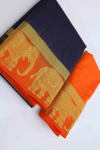 Elephant Border Saree