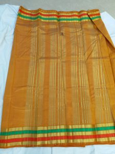 tussar silk sarees mustard color