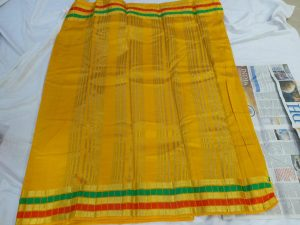 tussar silk sarees gold color