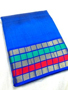tussar royalblue color