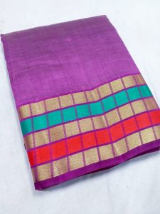 purple color tussar sarees